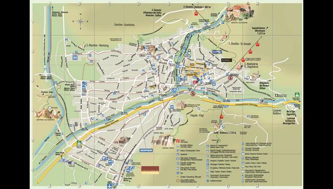 Bolzano Cartina.La Mappa Di Bolzano La Capitale Dell Alto Adige