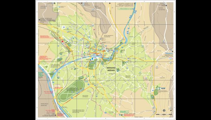 Cartina Geografica Vipiteno E Dintorni.La Mappa Della Citta Di Merano