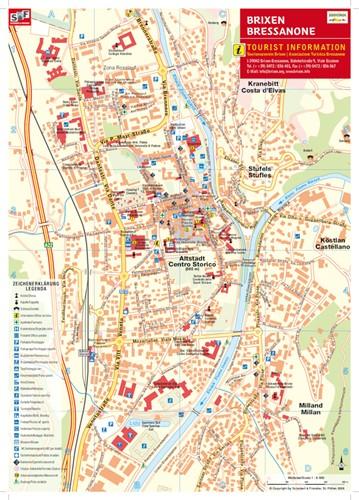 Cartina Geografica Vipiteno E Dintorni.Mappa Della Citta Di Bressanone
